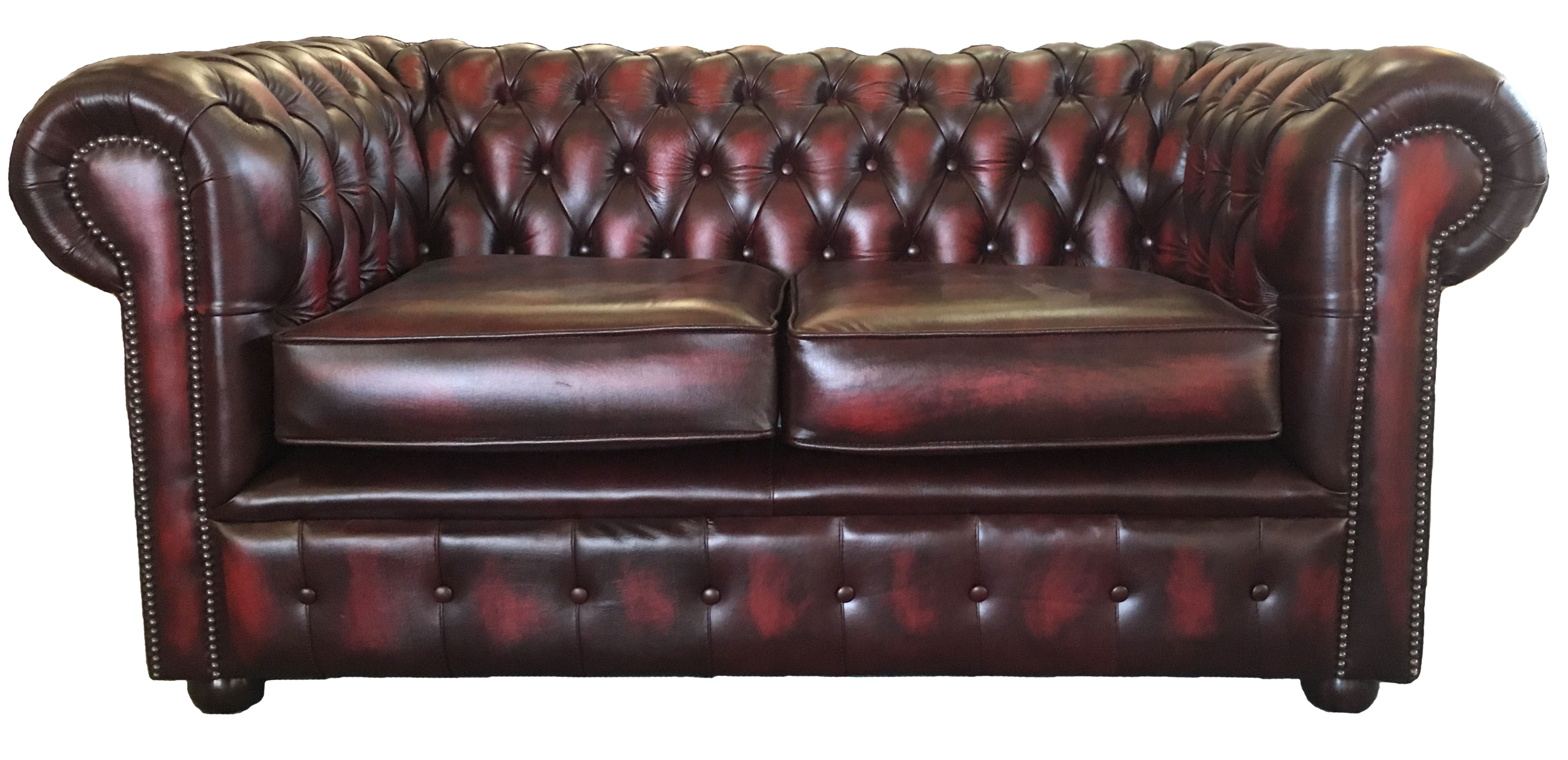 Brilliant Details About Antique Oxblood Red Vintage Style Chesterfield Genuine Leather Two Seater Sofa Pabps2019 Chair Design Images Pabps2019Com