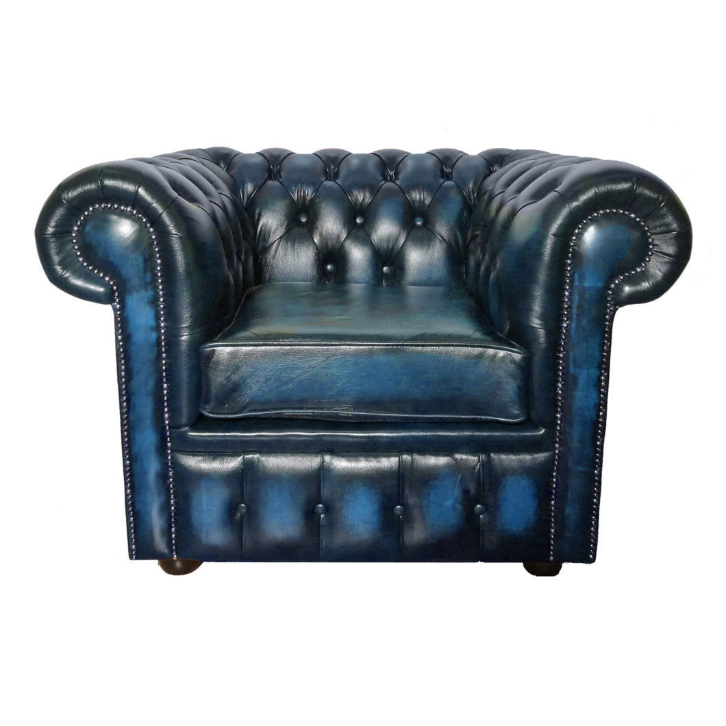 100 Genuine Leather Vintage Chesterfield Club Armchair