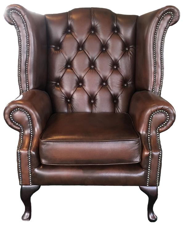 Nuovo chesterfield vera pelle marrone antico divano sedia for Divano vera pelle