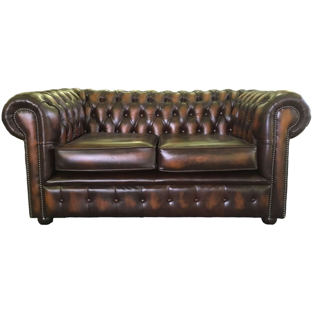 Vintage Style Chesterfield Two Seater Sofa Bed Available